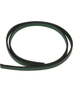 Cinturón de cuero, A: 10 mm, grosor 3 mm, verde, 1 m/ 1 paquete