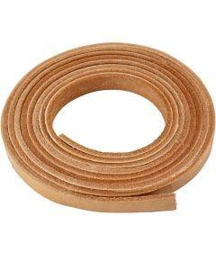 Correa de piel, A: 10 mm, grosor 3 mm, natural, 2 m/ 1 paquete