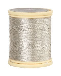 Hilo Metalizado DMC, grosor 0,36 mm, plata, 40 m/ 1 rollo