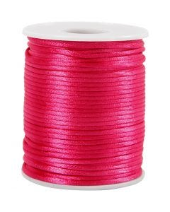 Cuerda satinada, grosor 2 mm, rosa, 50 m/ 1 rollo