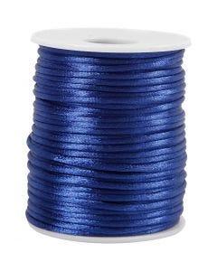 Cuerda satinada, grosor 2 mm, azul oscuro, 50 m/ 1 rollo