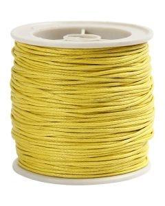 Cordón de algodón, grosor 1 mm, amarillo, 40 m/ 1 rollo