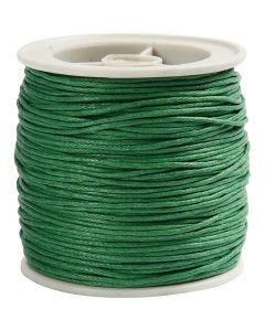 Cordón de algodón, grosor 1 mm, verde, 40 m/ 1 rollo