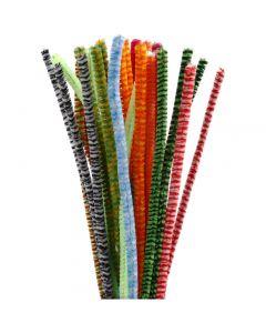 Limpiador de tubo, L. 30 cm, grosor 6 mm, surtido de colores, 30 stdas/ 1 paquete