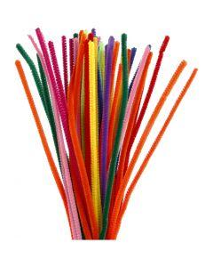 Limpiador de tubo, L. 30 cm, grosor 6 mm, surtido de colores, 50 stdas/ 1 paquete
