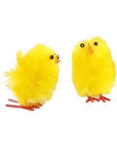 Pollos de pascua, A: 30 mm, amarillo, 12 ud/ 1 paquete