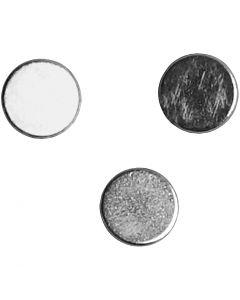 imanes, dia: 5 mm, grosor 2 mm, 10 ud/ 1 paquete