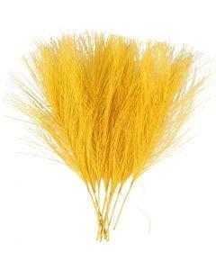 Plumas artificiales, L. 15 cm, A: 8 cm, amarillo, 10 ud/ 1 paquete