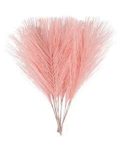 Plumas artificiales, L. 15 cm, A: 8 cm, rojo claro, 10 ud/ 1 paquete