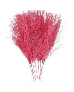 Plumas artificiales, L. 15 cm, A: 8 cm, rosa, 10 ud/ 1 paquete