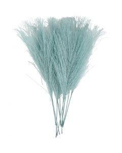 Plumas artificiales, L. 15 cm, A: 8 cm, turquesa, 10 ud/ 1 paquete