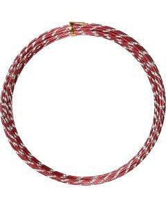 Alambre de aluminio, Corte de diamante, grosor 2 mm, rojo, 7 m/ 1 rollo