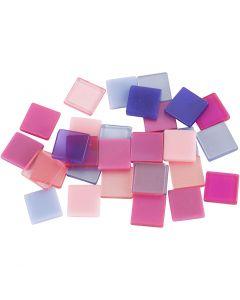 Mini mosaico , medidas 10x10 mm, lila/lila oscuro, 25 gr/ 1 paquete