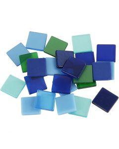 Mini mosaico , medidas 10x10 mm, azul/gris harmonía, 25 gr/ 1 paquete