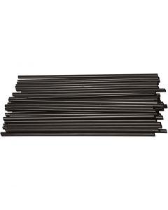 Pajitas para construcción , L. 12,5 cm, dia: 3 mm, negro, 800 ud/ 1 paquete