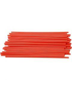 Pajitas para construcción , L. 12,5 cm, dia: 3 mm, rojo, 800 ud/ 1 paquete