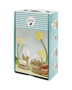 Campana con decoraciones, A: 12+15,5 cm, 2 ud/ 1 paquete