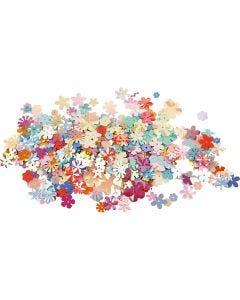 Lentejuelas, dia: 5-20 mm, surtido de colores, 250 gr/ 1 paquete