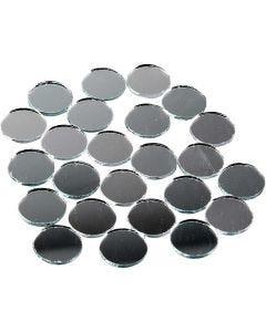 Piezas de espejo para mosaico, redondo, dia: 18 mm, 400 ud/ 1 paquete
