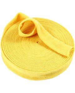 Tubo de punto, A: 40 mm, amarillo, 75 cm/ 1 paquete