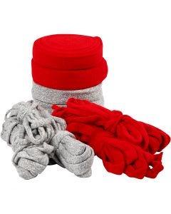 Tubo de punto, A: 10-40 mm, El contenido puede variar , gris, rojo, 50 m/ 1 paquete