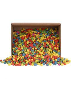 Mosaico piedras, medidas 8-10 mm, colores fuertes, 2 kg/ 1 paquete