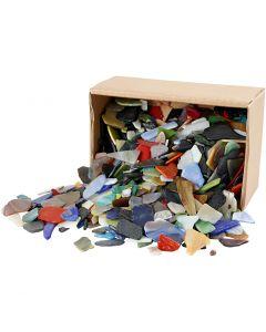 Mosaico, medidas 15-60 mm, surtido de colores, 2 kg/ 1 paquete