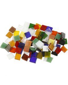 Teselas de cristal para mosaico, medidas 10x10 mm, 454 gr/ 1 paquete
