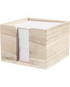 Porta papel, medidas 9,5x9,5x7 cm, 1 ud