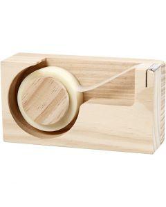 Dispensador de cinta, L. 14,3 cm, medida agujero 2,5 cm, 1 ud