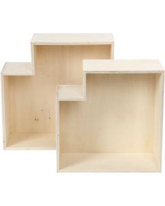 Cajas de almacenamiento, A: 27+31 cm, profundidad 12,5 cm, 2 ud/ 1 set