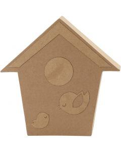Casa de pájaros, A: 18 cm, profundidad 2,5 cm, 1 ud
