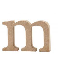 Letra, m, A: 8 cm, grosor 2 cm, 1 ud