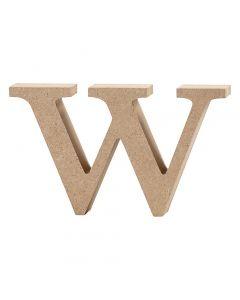 Letra, w, A: 8 cm, grosor 2 cm, 1 ud
