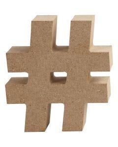 Símbolo, #, A: 8 cm, grosor 1,5 cm, 1 ud
