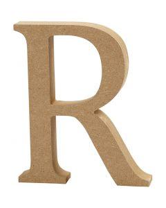 Letra, R, A: 8 cm, grosor 1,5 cm, 1 ud