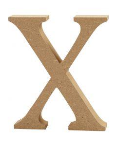 Letra, X, A: 8 cm, grosor 1,5 cm, 1 ud