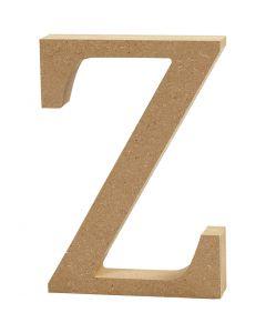 Letra, Z, A: 8 cm, grosor 1,5 cm, 1 ud