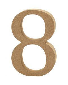Número , 8, grosor 1,5 cm, 1 ud