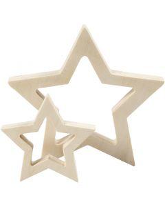 Estrellas, dia: 9+16 cm, grosor 20 mm, 2 ud/ 1 paquete