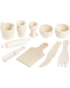 Herramientas de cocina, L. 40-60 mm, 10 ud/ 1 paquete