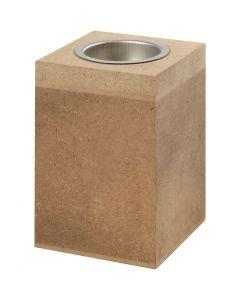 Portavelas, A: 10 cm, medidas 7x7 cm, 1 ud