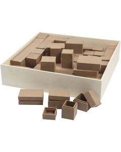 Cajas, A: 2,5-5 cm, 4x15 ud/ 1 paquete
