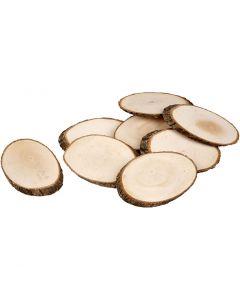 Rodaja de madera, grosor 8 mm, El contenido puede variar , 12 ud/ 1 paquete