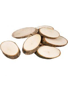 Rodaja de madera, grosor 8 mm, 20 ud/ 1 paquete