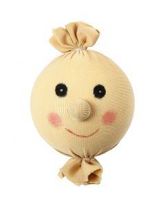 Cara de tela sonriente, dia: 55 mm, polvo claro, 1 ud