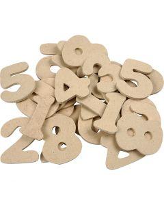 Número , A: 4 cm, grosor 2,5 mm, 30 ud/ 1 paquete