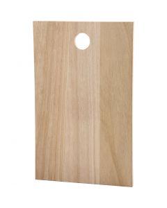 Placa de madera, medidas 35x22 cm, grosor 13 mm, 1 ud