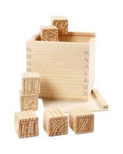 Cubos con letras, medidas 3x3x3 cm, 27 ud/ 1 paquete