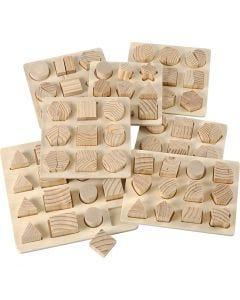 Rompecabezas, medidas 12,5x12,5-19,5x19,5 cm, 7 ud/ 1 paquete